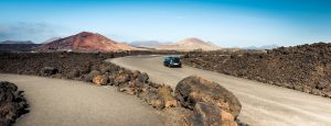 mountain road in Lanzarote, Canary Islands
